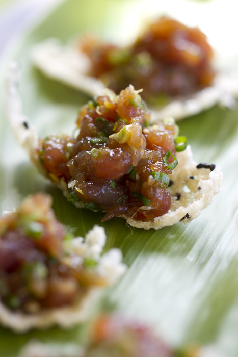 Ahi Poke with Rice Crackers