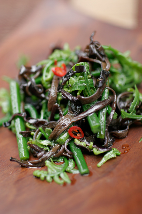 Pohole Fern Salad - Hawaiian delicacy, Chinese style vinaigrette