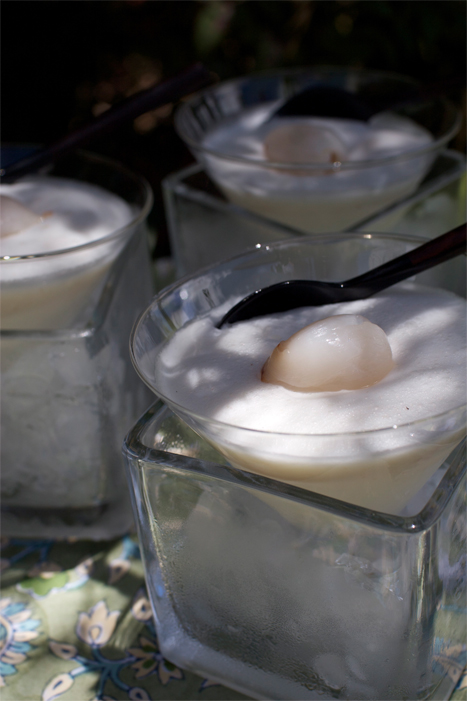 Lychee Mousse - Bubbly soft lychee mousse