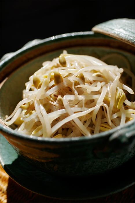 Soy Bean Sprout Namuru - Roasted Sesame oil, cooked soy beans