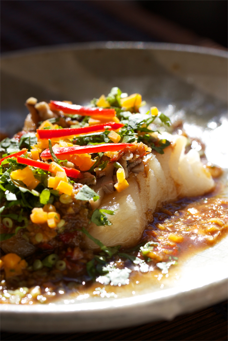 Steamed Lemongrass Fish Fillet with Spicy Tamarind Sauce