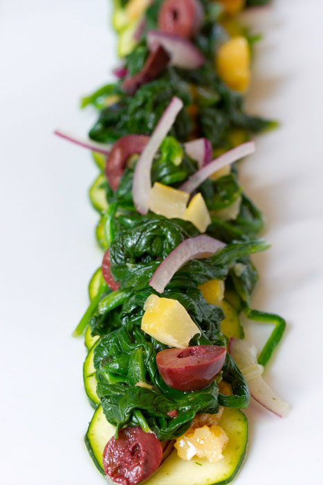 Spinach and Zucchini with Preserved Lemon