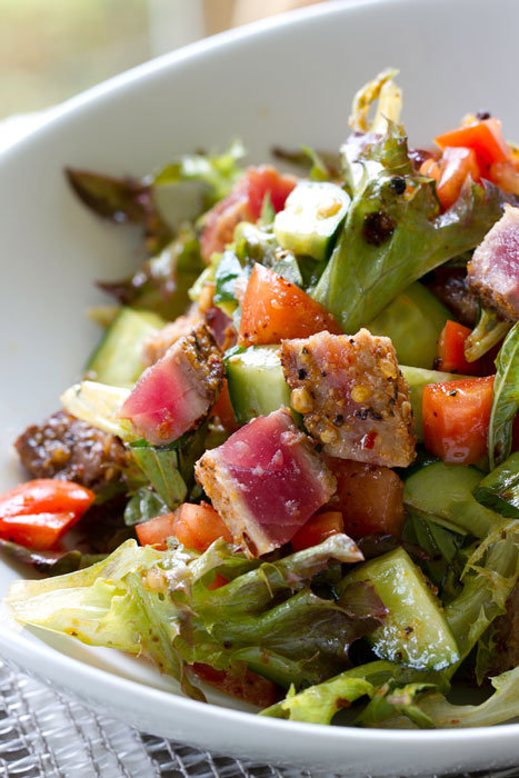 Seared Ahi with Szechuan Style Dressing