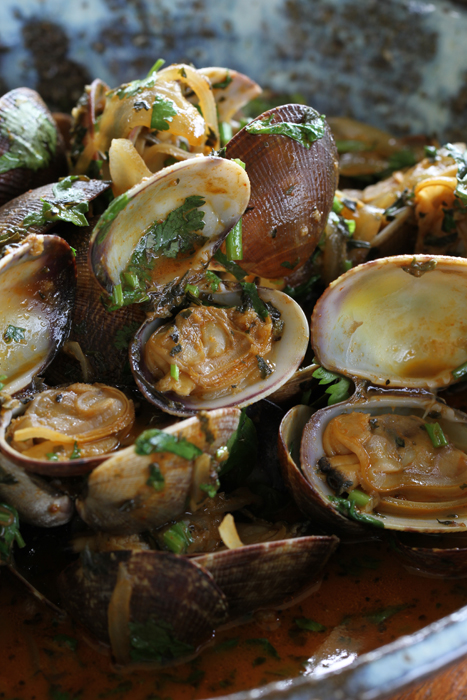 Red Coconut Curry Clams